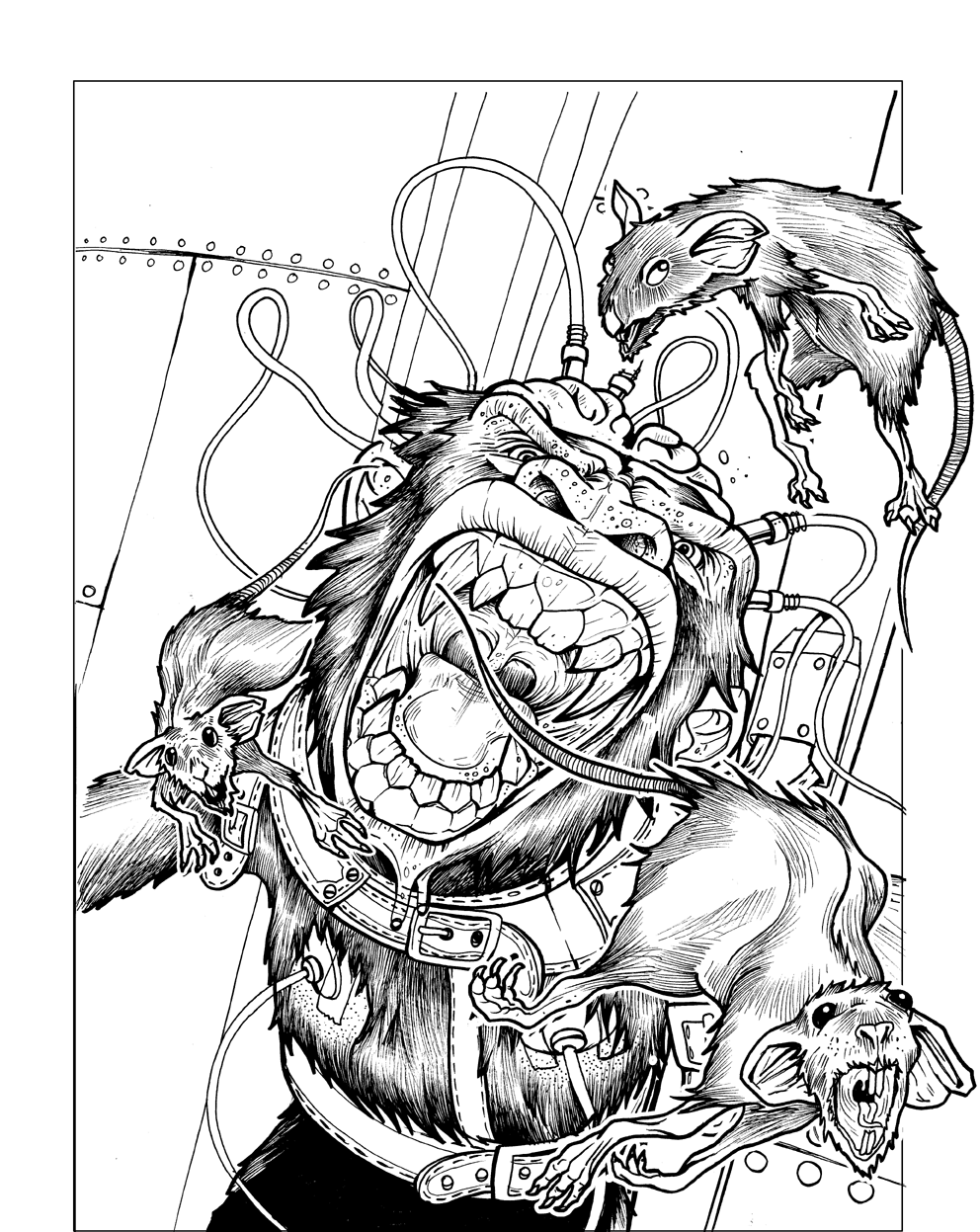 Line Art Space : Time for rat art part prometheus games rpg